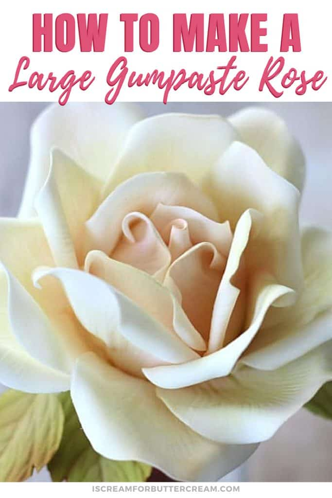 How to Make a Large Gumpaste Rose New Pin Graphic 3