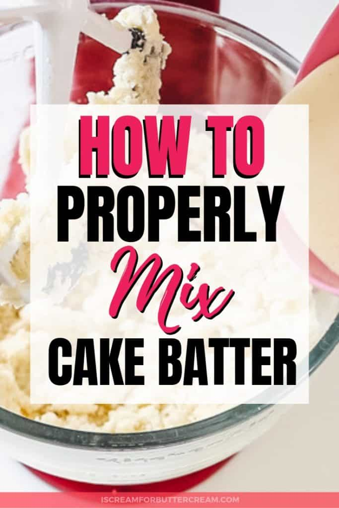 How to Mix Cake Batter Pinterest Graphic 2