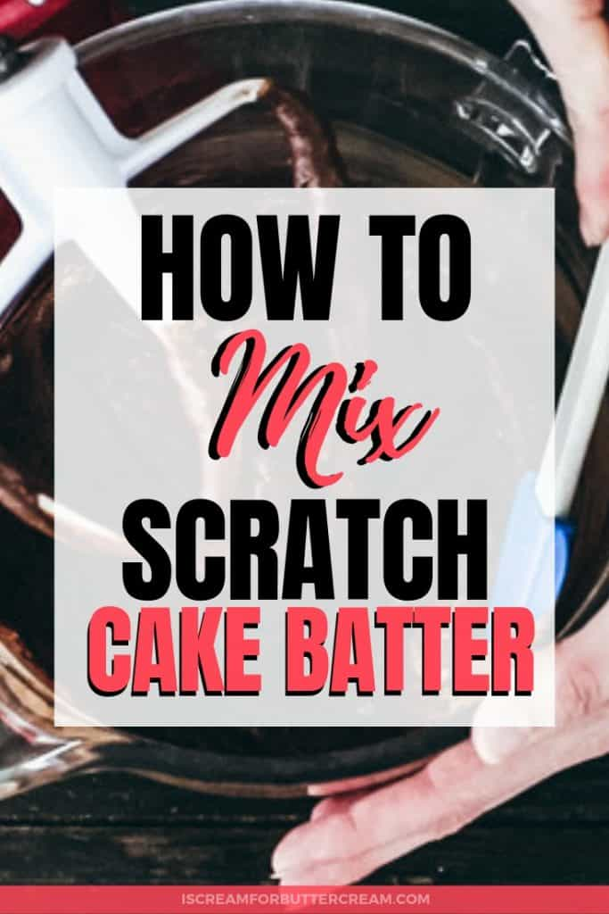 How to Mix Cake Batter Pinterest Graphic 3