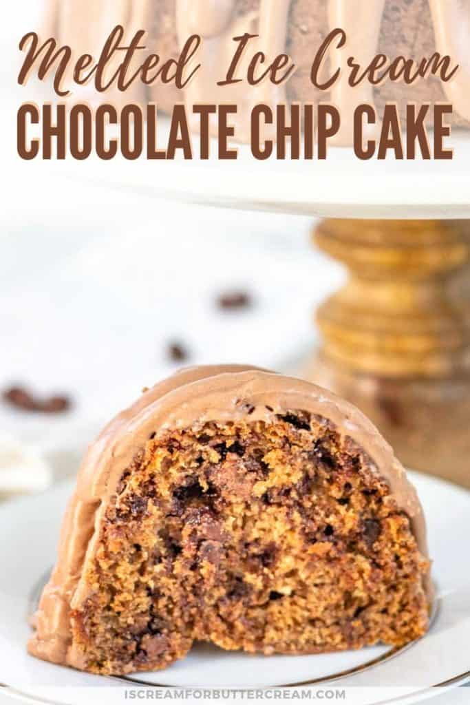 melted ice cream chocolate chip cake pinterest graphic