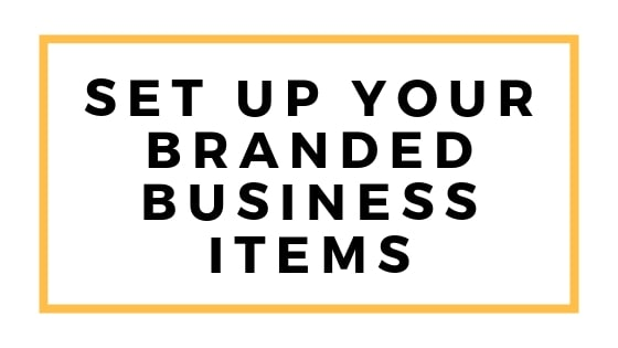 set up your branded business items graphic