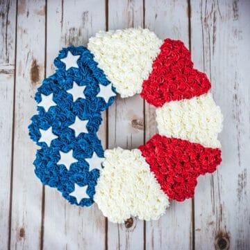 patriotic rosette cake featured image