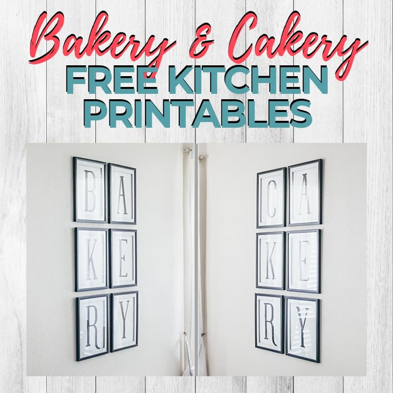 Bakery Cakery Kitchen Printables Blog Header Image