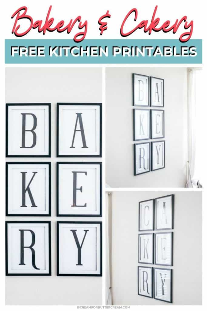 Bakery Cakery Free Kitchen Printables Pin Graphic 1