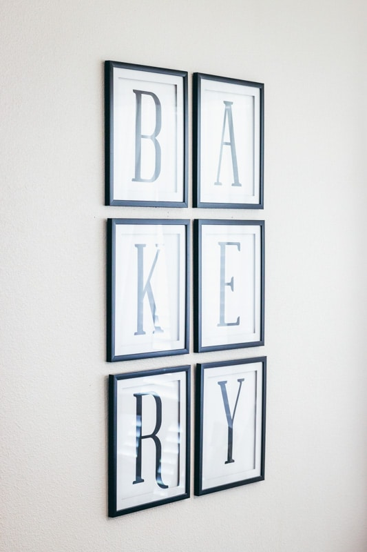 bakery printable close up on kitchen wall