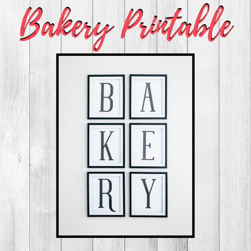 Bakery Free Kitchen Printable