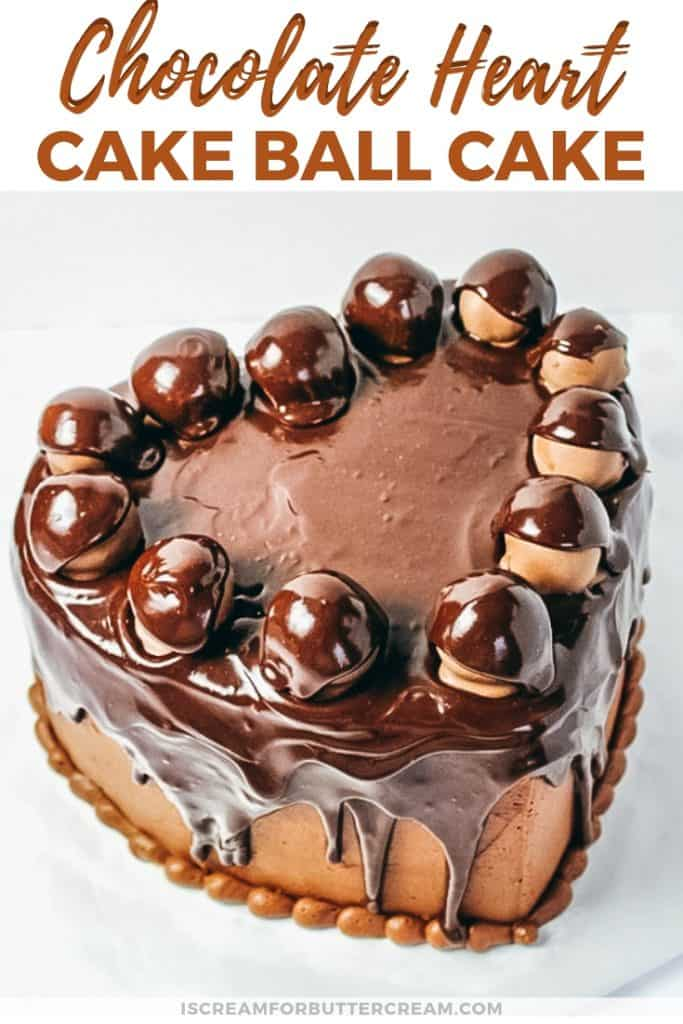 chocolate heart cake pinterest graphic
