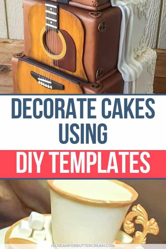 Decorate Cakes Using DIY Templates pin