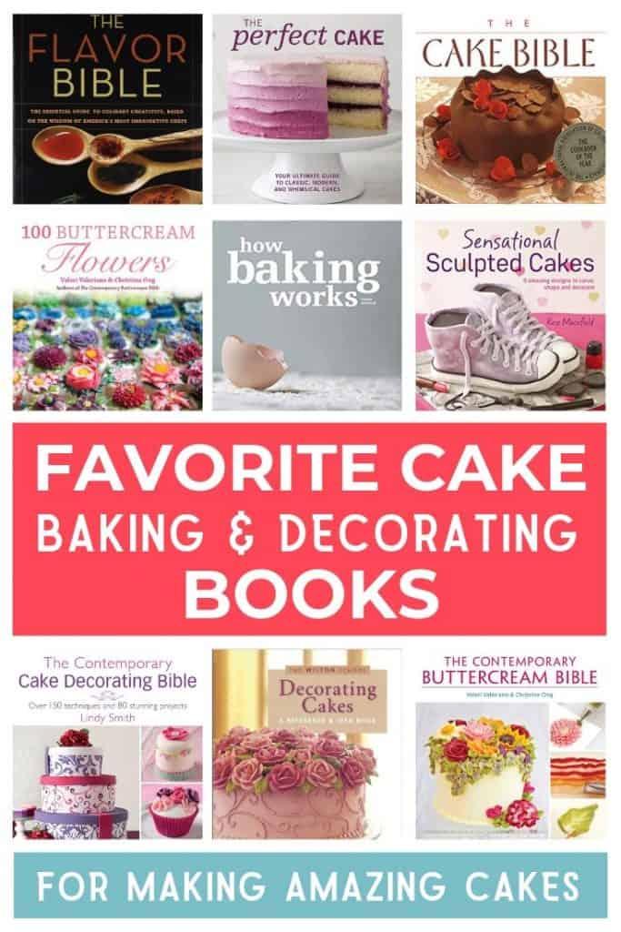 Favorite Cake Books Pin Graphic