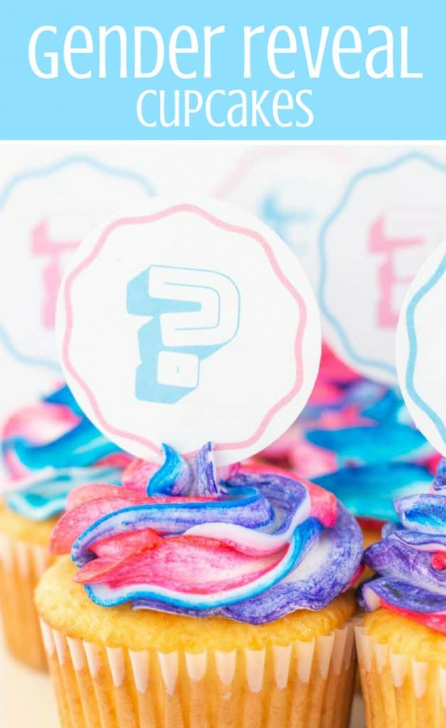 gender reveal cupcakes pin graphic