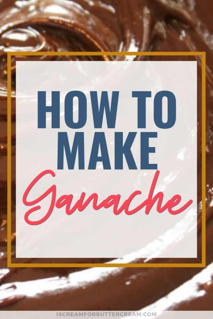 How to make ganache blog title graphic