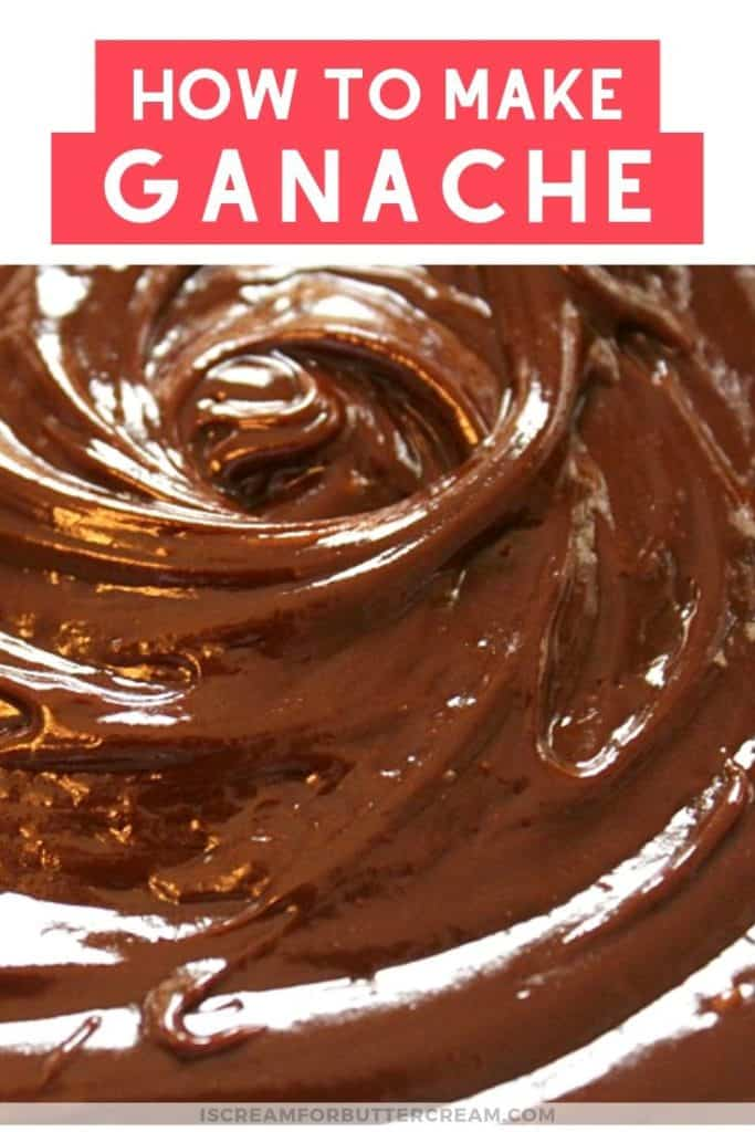 How to make ganache pinterest graphic 3
