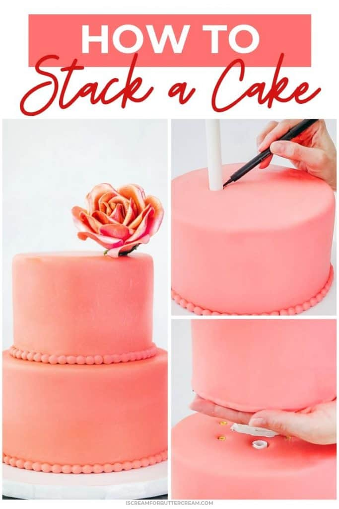 How to stack a cake pin graphic 1