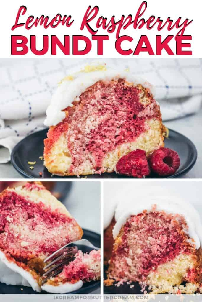 Lemon Raspberry Bundt Cake Pinterest Graphic