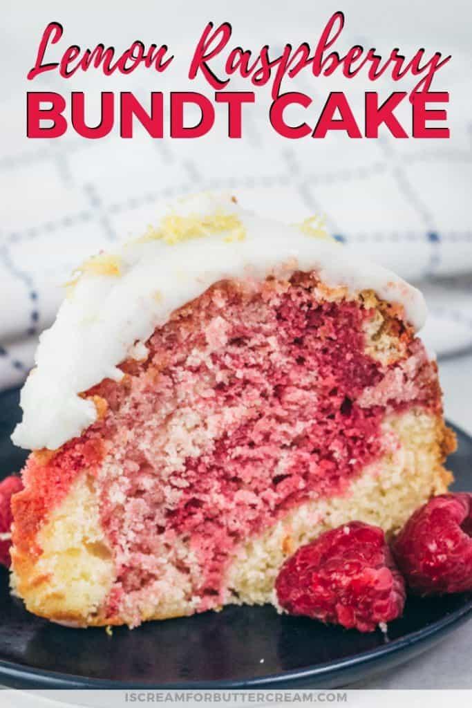 Lemon Raspberry Bundt Cake Pin Graphic