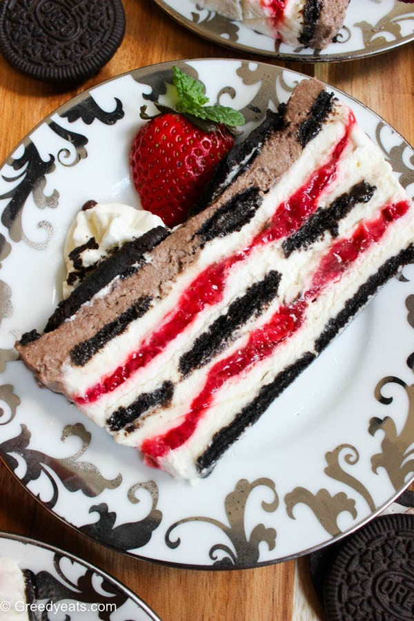 oreo strawberry icebox cake