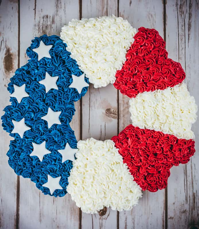 Rosette 4th of July Cupcake Cake