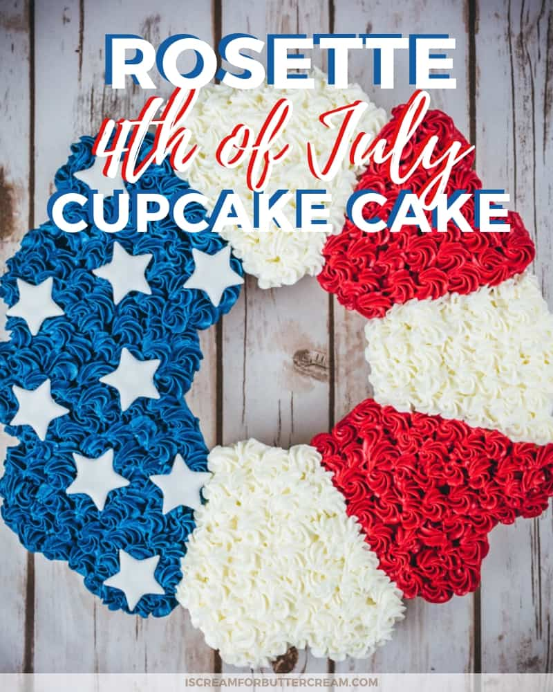 Rosette 4th of July Cupcake Cake Blog Title Graphic