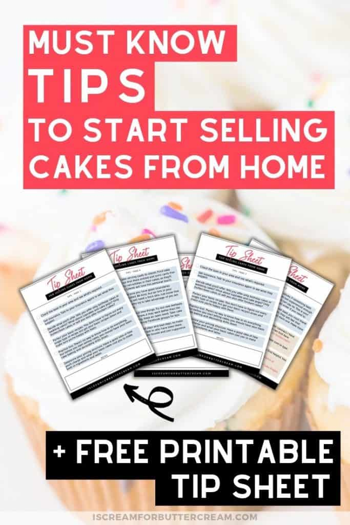 tips for selling cakes from home