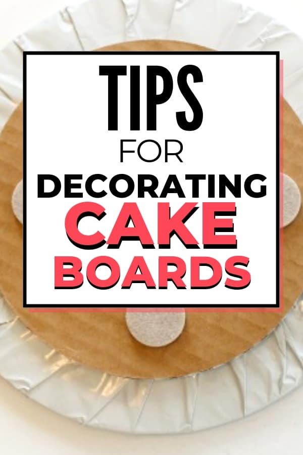 tips for covering cake boards pinterest graphic