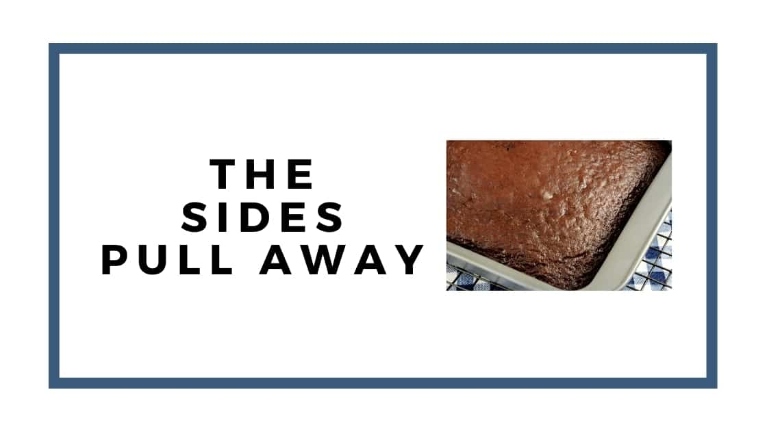 sides pull away graphic with baked cake