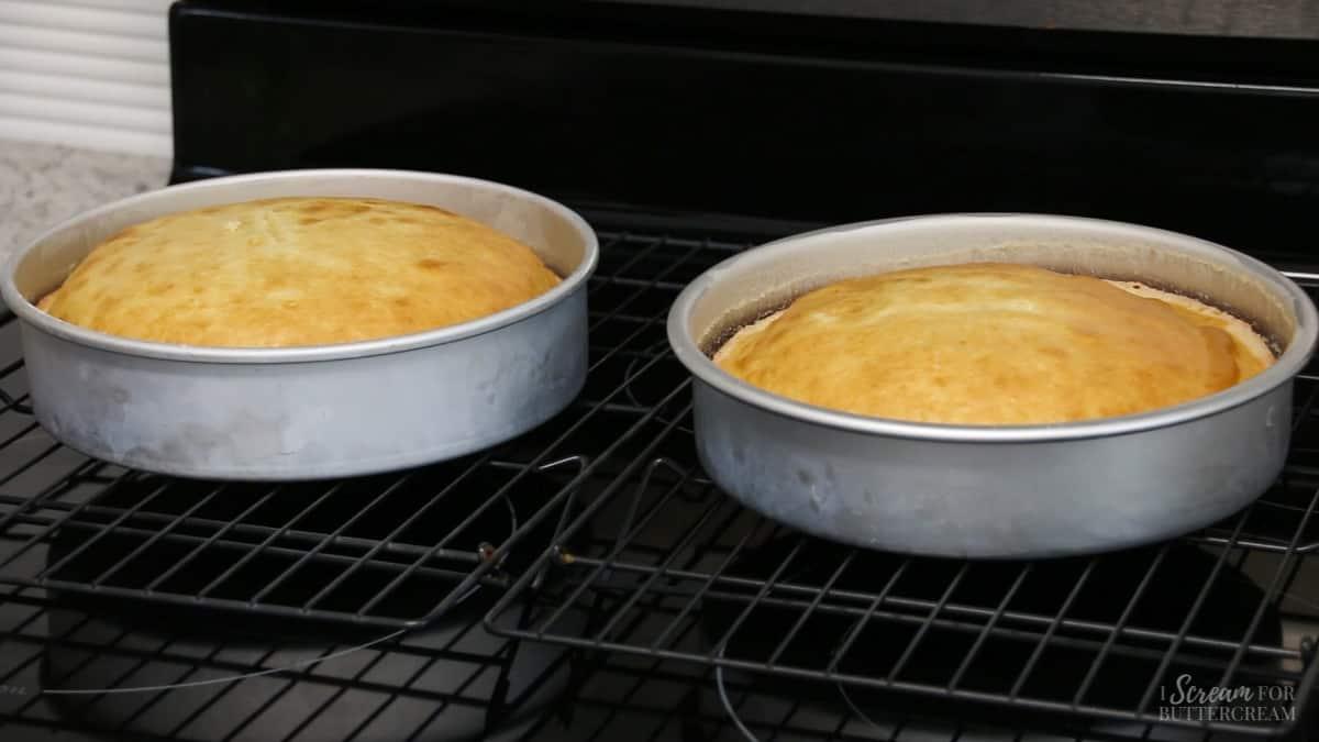 golden brown cake edges