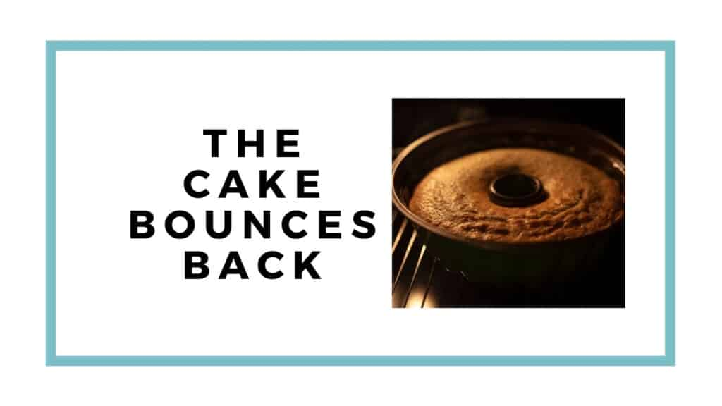 cake bounces back graphic with bundt cake