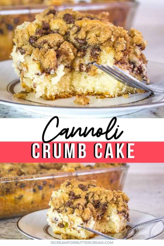 Cannoli Crumb Cake Title Graphic