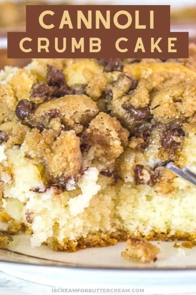 Cannoli Crumb Cake Pin Graphic