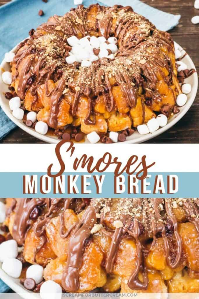 smores monkey bread blog title graphic