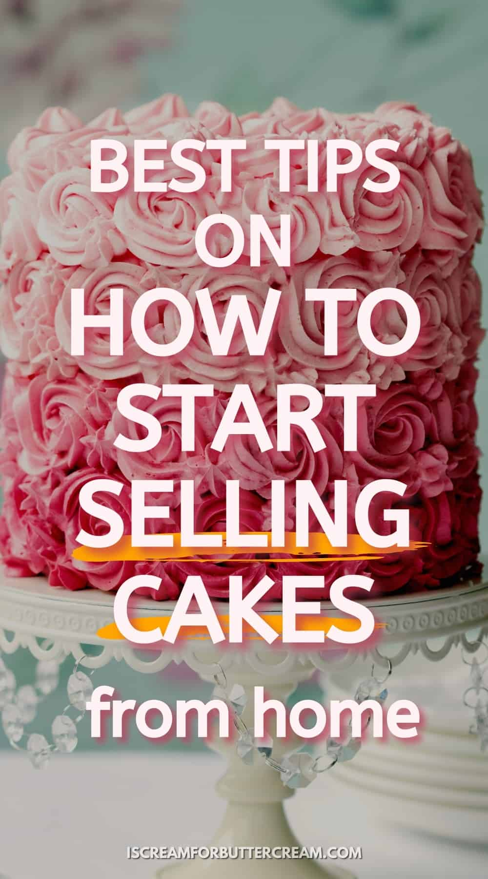 selling cakes pin graphic