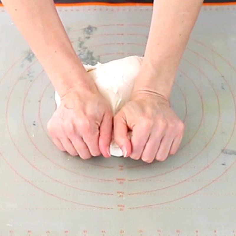 kneading fondant