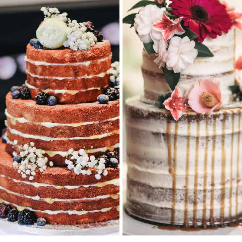 naked or semi naked cake
