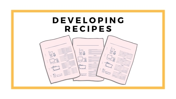 developing recipes graphic