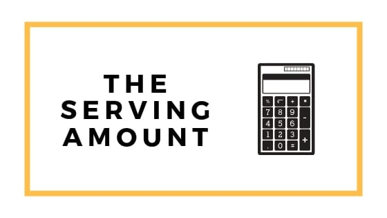 the serving amount graphic