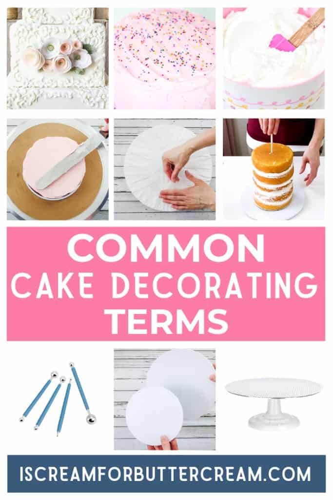 Common Cake Decorating Terms Pin Graphic 1