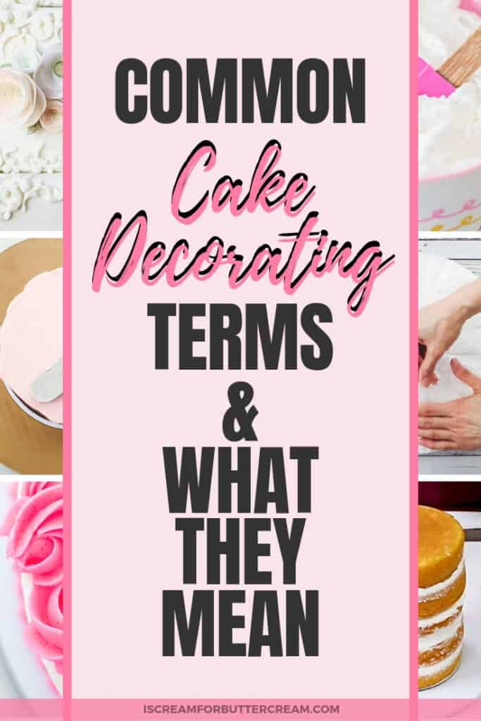 Common Cake Decorating Terms Pin Graphic 3