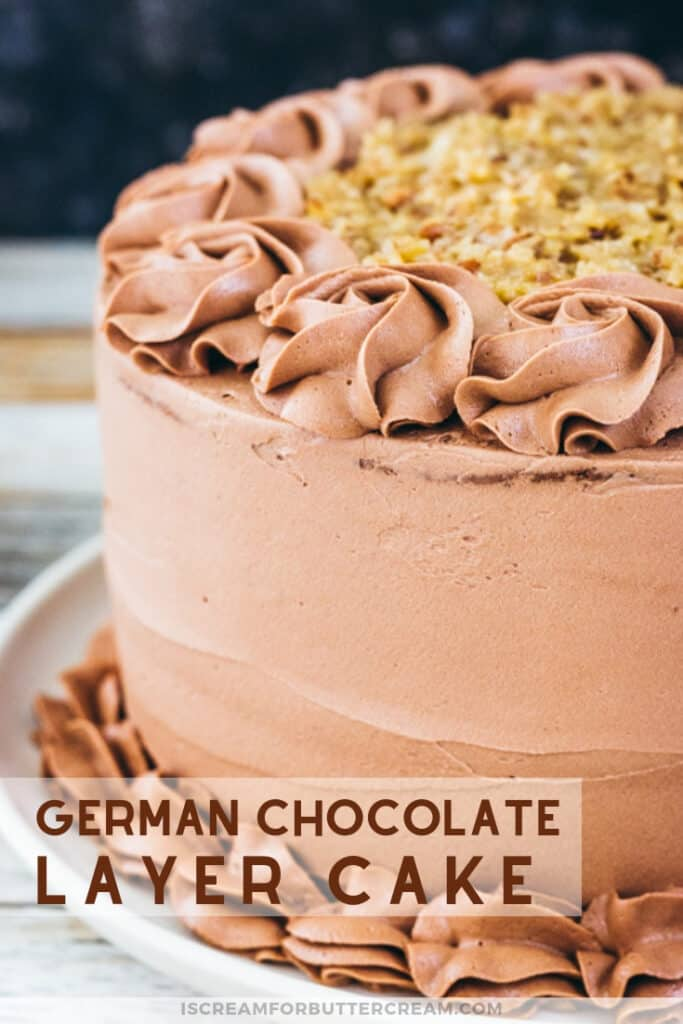 German Chocolate Layer Cake Pin Graphic 3