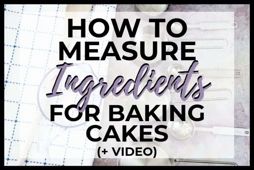 Measuring Ingredients for Baking Cakes featured image