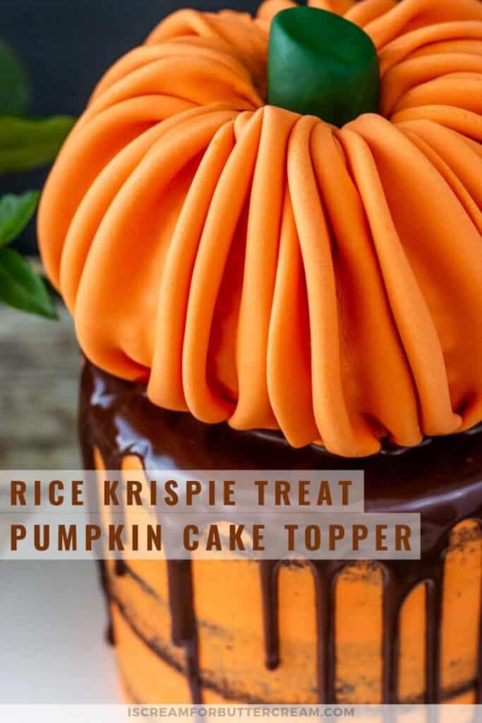 rice krispie treat pumpkin cake topper pin graphic 3