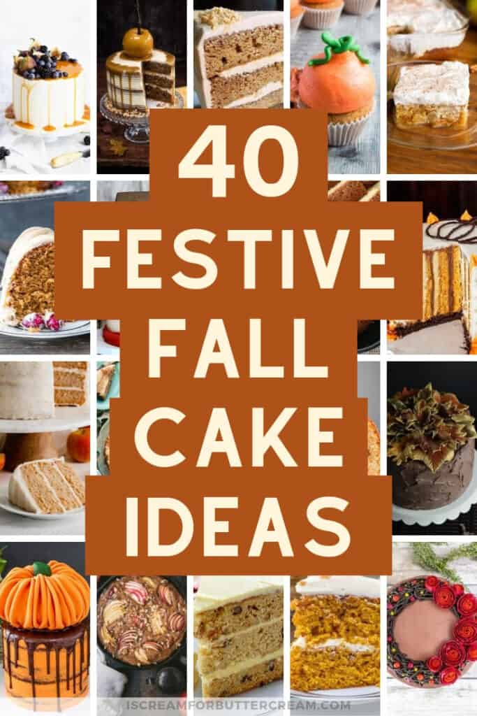 Festive Fall Cake Ideas Pin Graphic 2