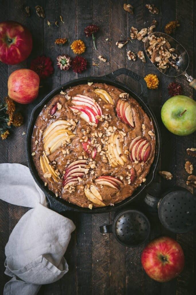 Apple Walnut Cake with Cinnamon Sugar Glaze