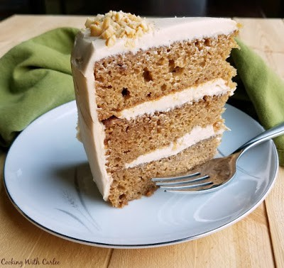 Applesauce Cake With Soft Caramel Cream Cheese Frosting