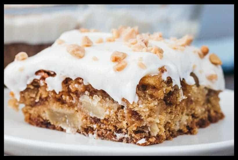 Caramel Apple Toffee Cake Featured Image