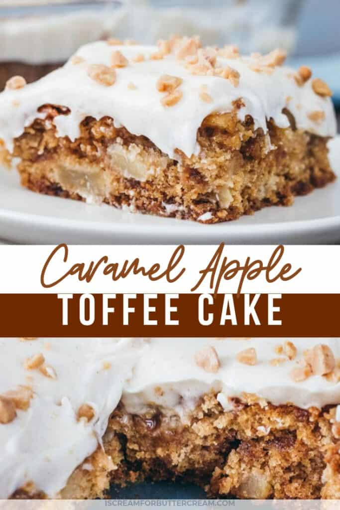 caramel apple toffee cake pin graphic 1