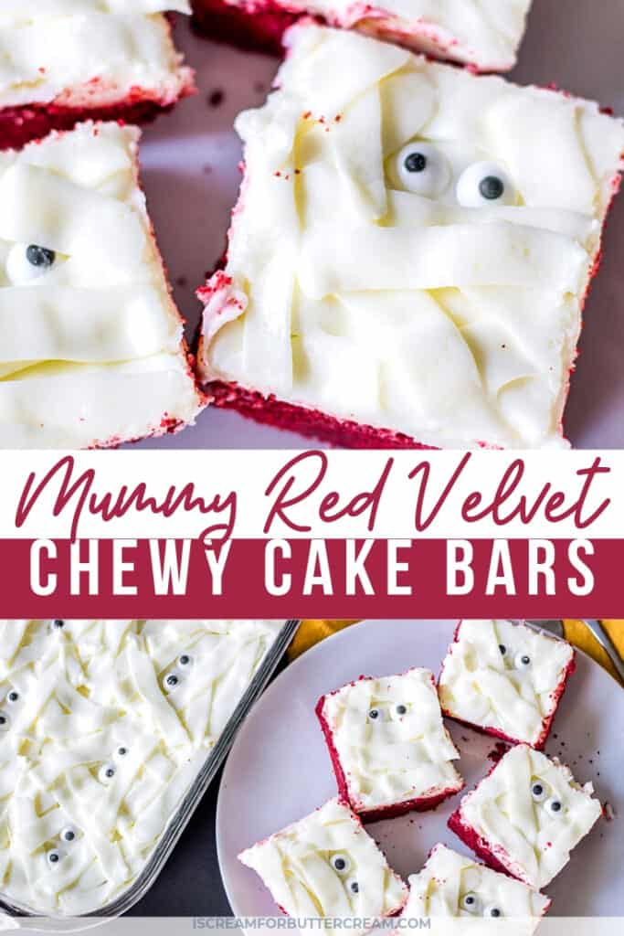 Easy Mummy Chewy Cake Bars Pin Graphic 1