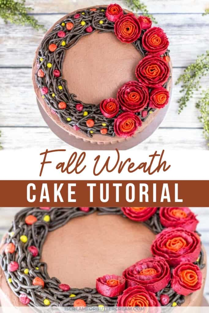 Fall wreath cake pinterest graphic 1