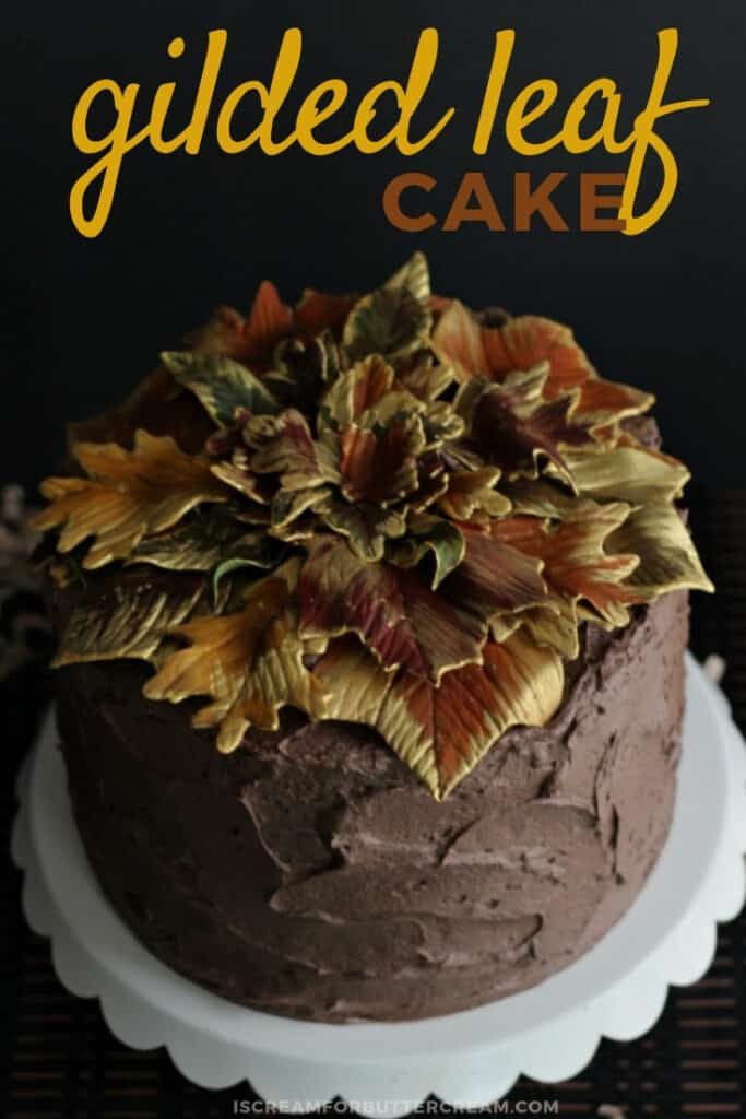 gilded leaf cake pinterest graphic 1