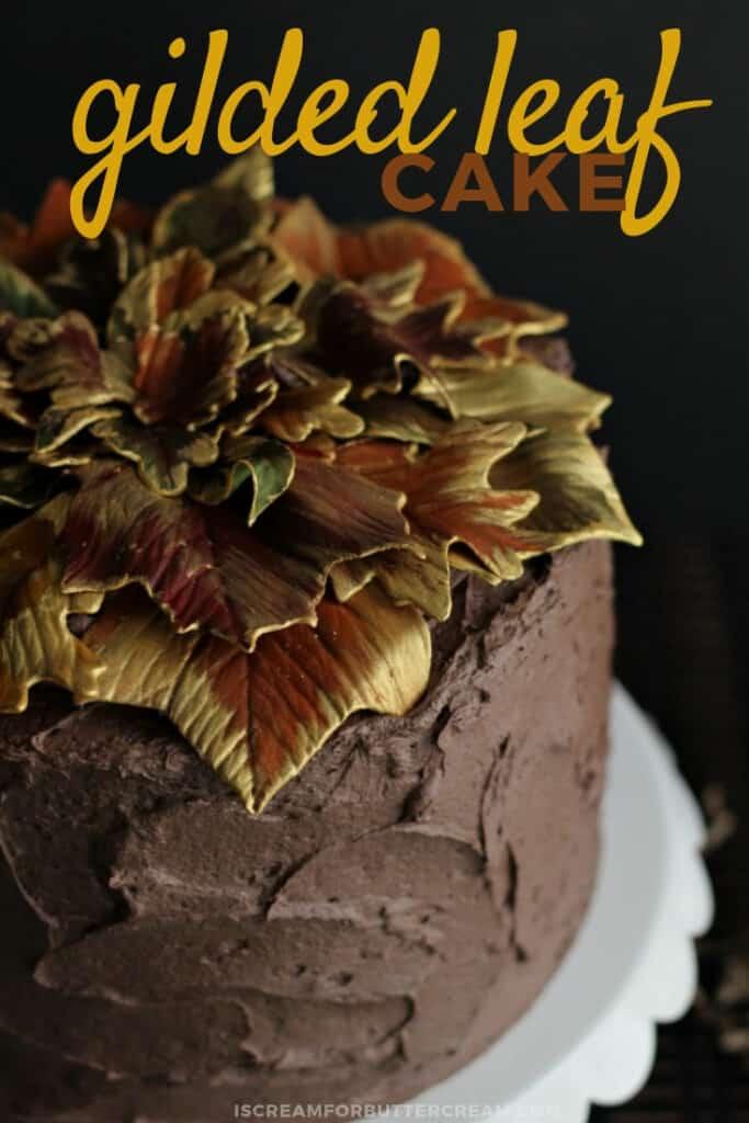 gilded leaf cake pinterest 2