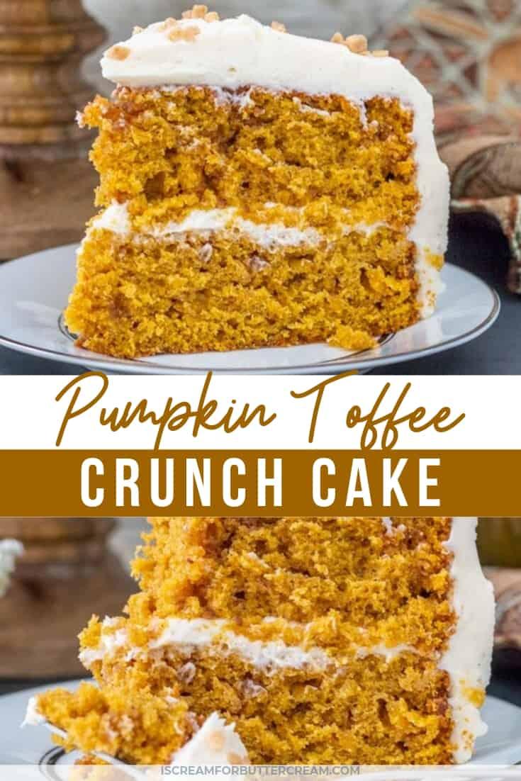 Pumpkin toffee crunch cake pin graphic 1
